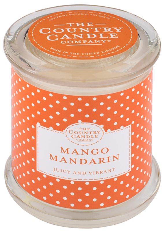 Country Candle Mango Mandarin bougie parfumée   dans verre avec couvercle