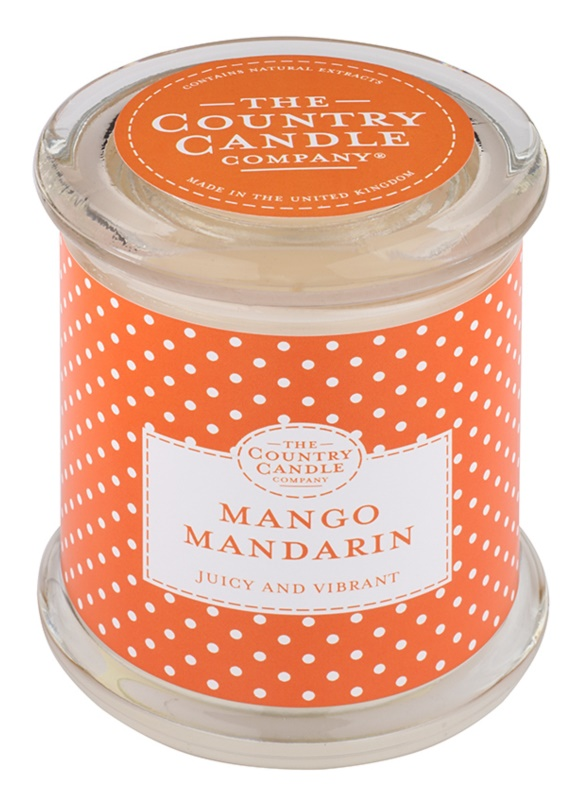 Country Candle Mango Mandarin Scented Candle   in Glass Jar with Lid
