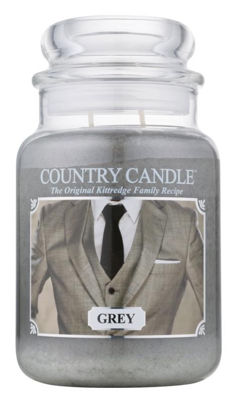 Country Candle Grey lumânare parfumată  652 g