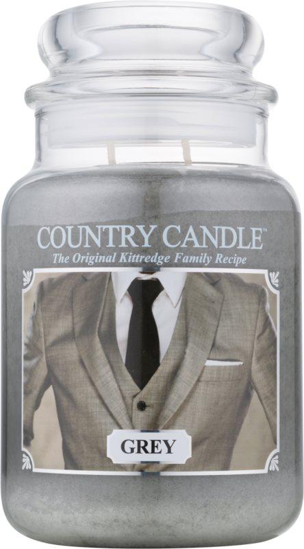 Country Candle Grey vonná svíčka 652 g