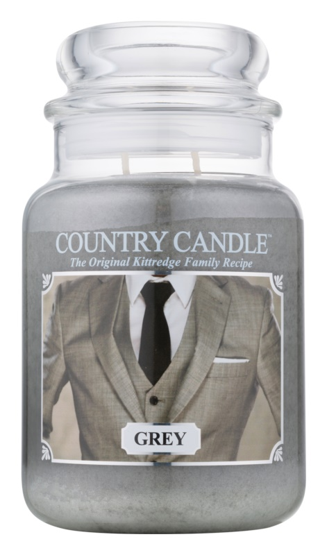 Country Candle Grey vonná sviečka 652 g