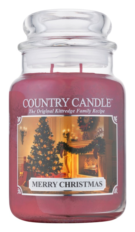 Country Candle Merry Christmas vonná sviečka 652 g