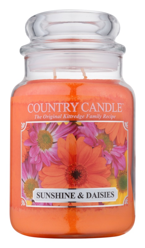 Country Candle Sunshine & Daisies Geurkaars 652 gr