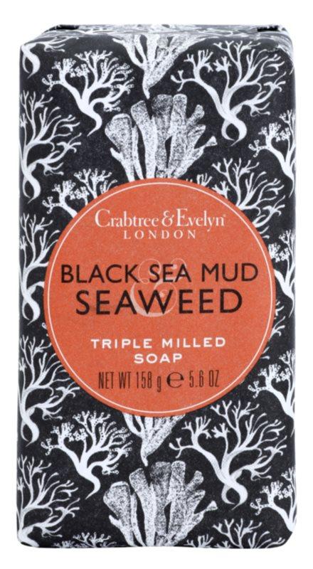 Crabtree & Evelyn Black Sea Mud & Seaweed luxuoso sabão com algas marinhas e barro