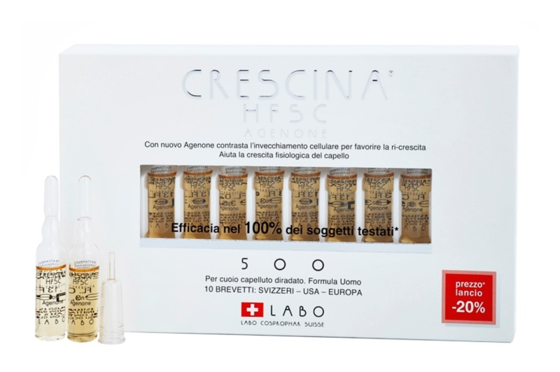 Crescina HFSC AGENONE 500 flacon împotriva subțierii intermediare a părului pentru barbati