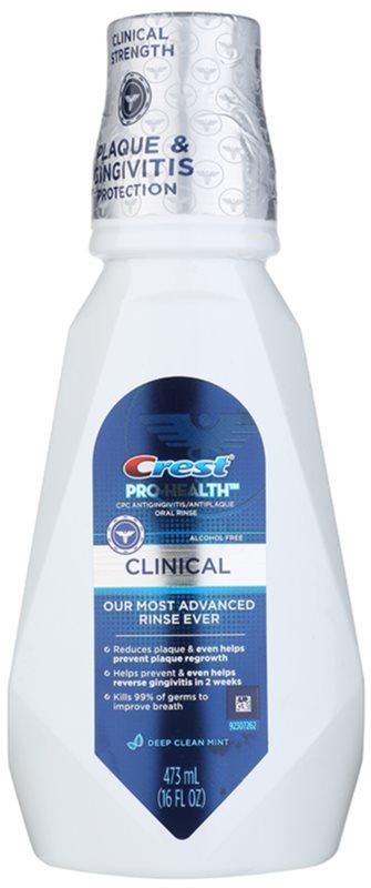 Crest Pro-Health Clinical elixir bucal contra a placa bacteriana e para ter uma gengivas saudáveis