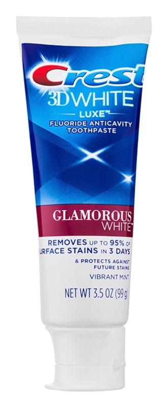Crest 3D White Luxe Glamorous White bleichende Zahnpasta mit Fluor