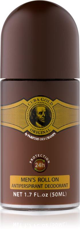 Cuba Gold deodorante roll-on per uomo 50 ml