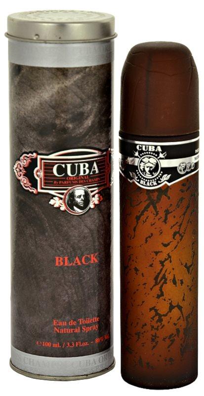 Cuba Black eau de toilette férfiaknak 100 ml