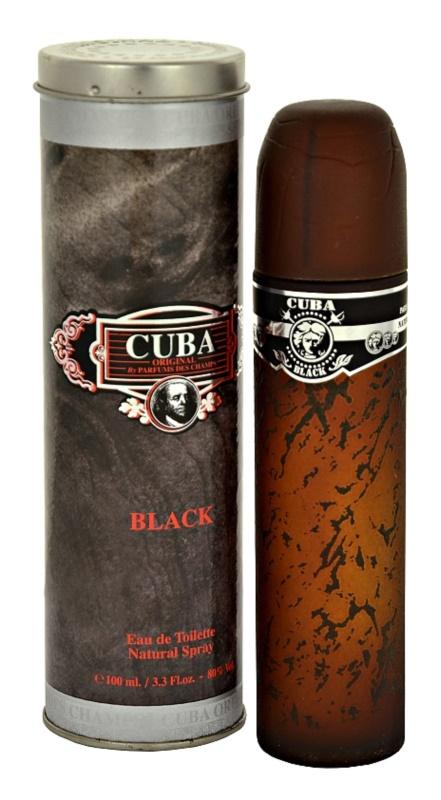 Cuba Black eau de toilette pentru bărbați 100 ml