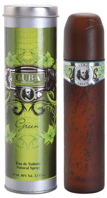 Cuba Green toaletní voda pro muže 100 ml