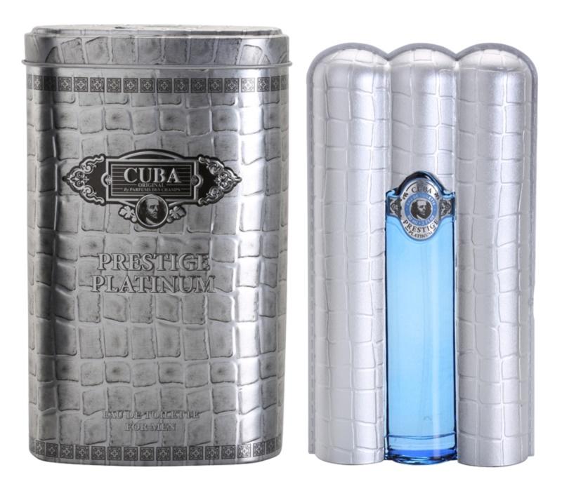Cuba Prestige Platinum eau de toilette férfiaknak 90 ml