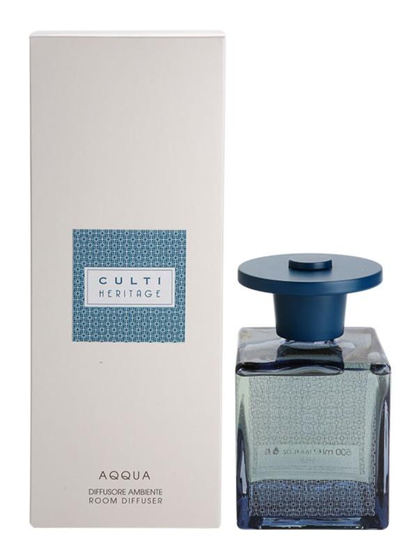 Culti Heritage Blue Arabesque Aroma Diffuser With Refill 500 ml Smaller Pack (Aqqua)