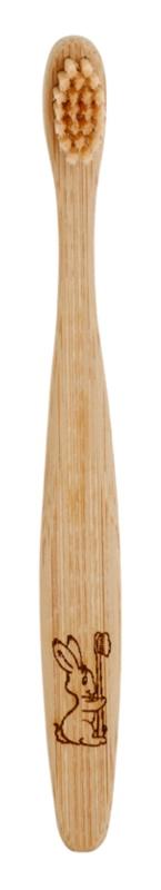 Curanatura Junior escova de bambu para crianças extra suave