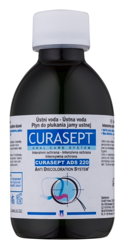 Curaprox Curasept ADS 220 Antibacterial Mouthwash Before and After Surgery