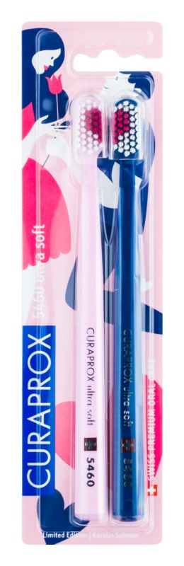 Curaprox Love Edition Ultra Soft 5460 szczoteczki do zębów 2 szt.