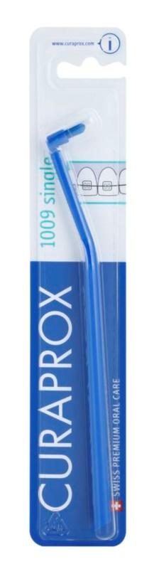 Curaprox 1009 Single spazzolino da denti monociuffo per portatori di apparecchi fissi