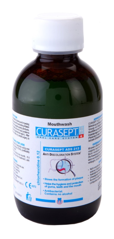 Curaprox Curasept ADS 212 antibakterijska vodica za usta protiv upale desni i paradentoze