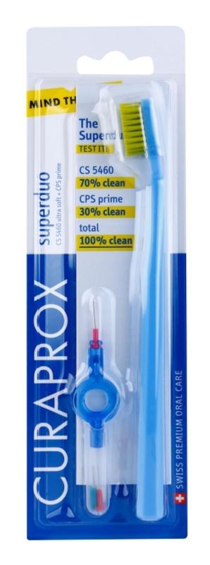 Curaprox 5460 Ultra Soft Superduo četkica za zube + zamjenski međuzubna četkica s držačem