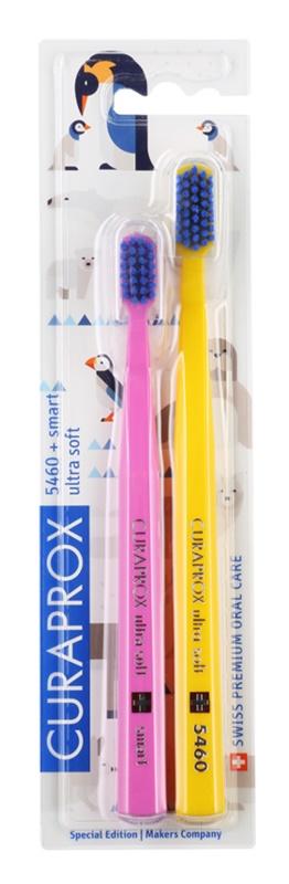 Curaprox 5460 Ultra Soft Animal Family Edition szczoteczki do zębów 2 szt.