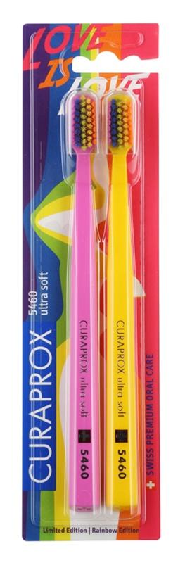 Curaprox 5460 Ultra Soft Rainbow Edition brosses à dents 2 pièces