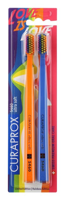 Curaprox 5460 Ultra Soft Rainbow Edition escovas de dentes 2 unidades