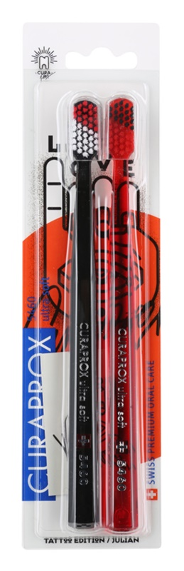 Curaprox 5460 Ultra Soft Tattoo Edition Toothbrushes, 2 pcs
