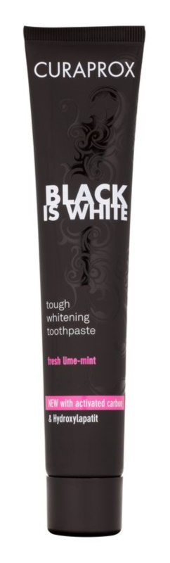 Curaprox Black is White Whitening Toothpaste with Activated Charcoal and Hydroxiapatite