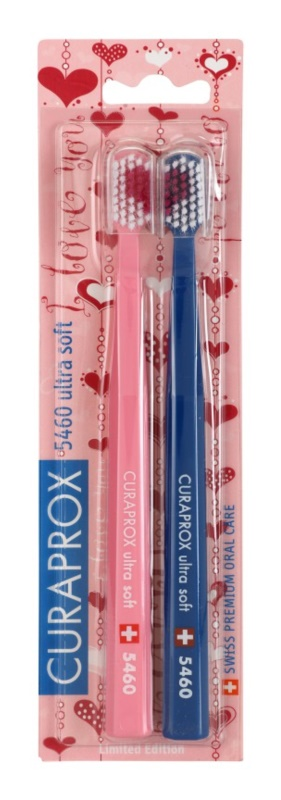 Curaprox 5460 Ultra Soft I Love You Toothbrushes, 2 pcs