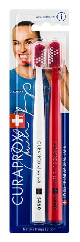 Curaprox 5460 Ultra Soft Martina Hingis Edition Toothbrushes, 2 pcs