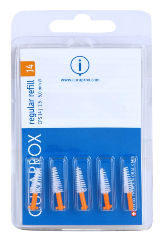 Curaprox Regular Refill CPS blister de brossettes interdentaires coniques de rechange 5 pcs