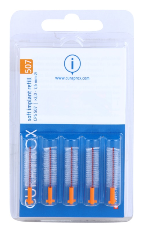 Curaprox Soft Implantat CPS náhradní mezizubní kartáčky na čištění implantátů 5 ks