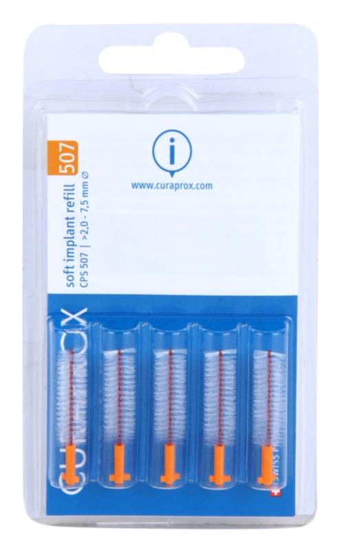 Curaprox Soft Implantat CPS zapasowe szczoteczki międzyzębowe do implantów 5 szt.