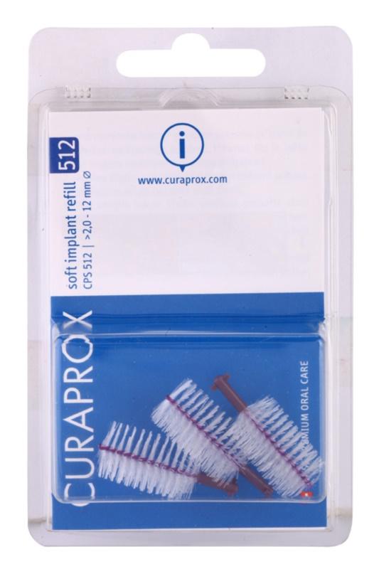 Curaprox Soft Implantat CPS cepillos interdentales de recambio para  implantes dentales 3 uds