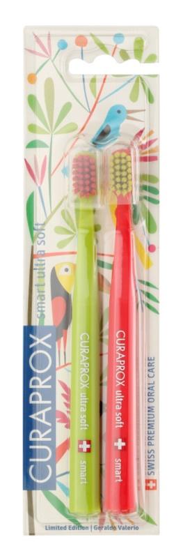Curaprox 7600 Smart Ultra Soft Jungle Edition zubné kefky 2 ks