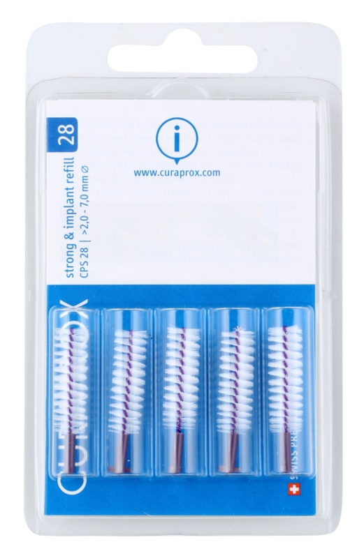 Curaprox Strong & Implant CPS Replacement Interdental Toothbrushes for Dentures, 5 pcs