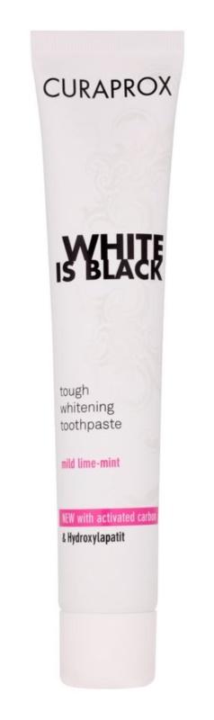 Curaprox White is Black bleichende Paste mit Aktivkohle und Hydroxylapatit