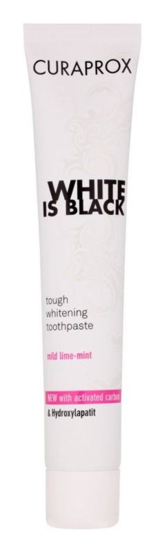 Curaprox White is Black fogfehérítő fogkrém faszénnel hydroxyapatittel