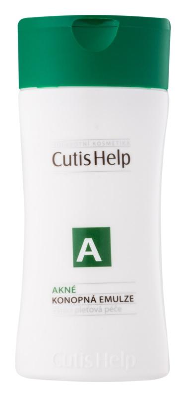 CutisHelp Health Care A - Akné konopná čistiaca emulzia pre problematickú pleť, akné