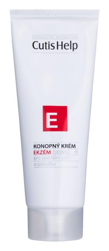 CutisHelp Health Care E - Eczema crema de día de cáñamo contra los síntomas del eczema para rostro y cuerpo