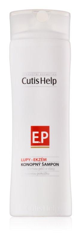 CutisHelp Health Care P.E. - Dandruff - Eczema champô de cânhamo para sinais de eczema e caspa