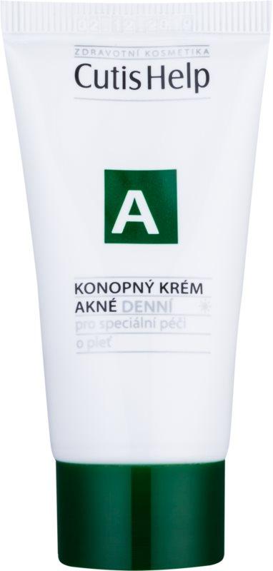 CutisHelp Health Care A - Acne Tagescreme mit Hanf für problematische Haut, Akne