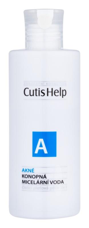 CutisHelp Health Care A - Akné konopná micelární voda 3 v 1 pro problematickou pleť, akné