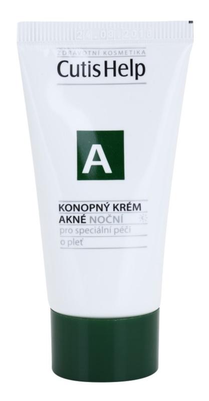 CutisHelp Health Care A - Acne crème de nuit au chanvre pour peaux à problèmes, acné