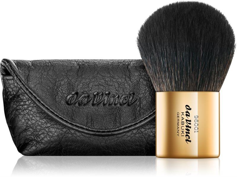 da Vinci Kabuki Gold perie kabuki pentru pudră cu sac