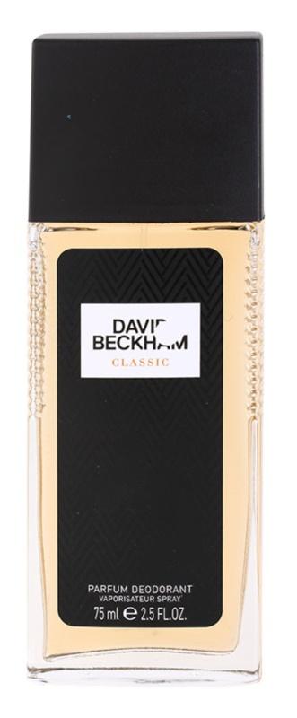 David Beckham Classic deodorant s rozprašovačom pre mužov 75 ml