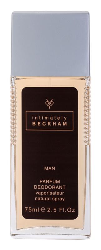 David Beckham Intimately Men Deo mit Zerstäuber für Herren 75 ml