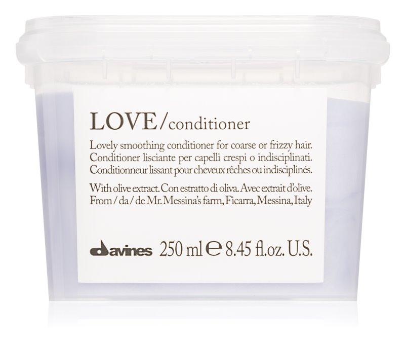 Davines Love Olive balzam za glajenje las za neobvladljive lase