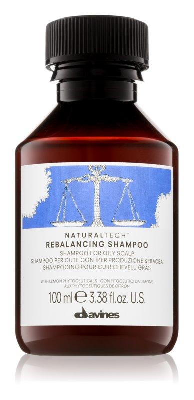 Davines Naturaltech Rebalancing globinsko čistilni šampon za mastno lasišče