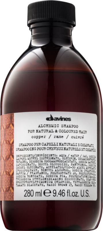 Davines Alchemic Copper šampón pre zvýraznenie farby vlasov